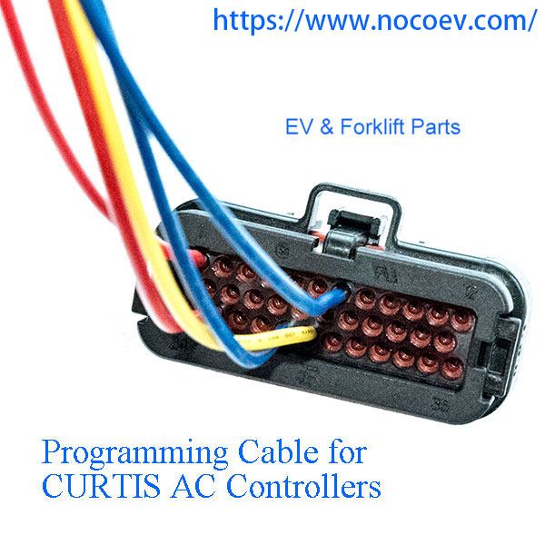 CURTIS 1236 or 1238 AC Motor Speed Controller Programming Cable For 1313-4401, 1311-4401, 1314-4401 or 1314-4402 Programmer