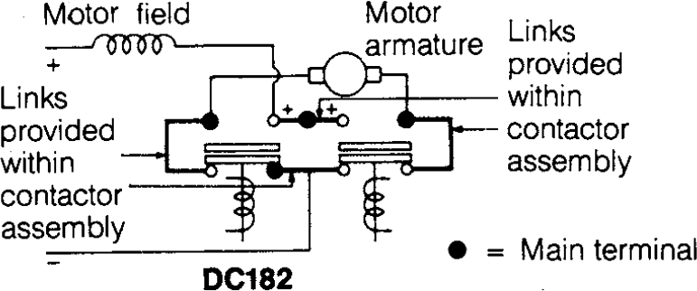 circuitdiagram noco shop albright 24v dc motor reversing contactor, model albright contactor wiring diagram at bayanpartner.co