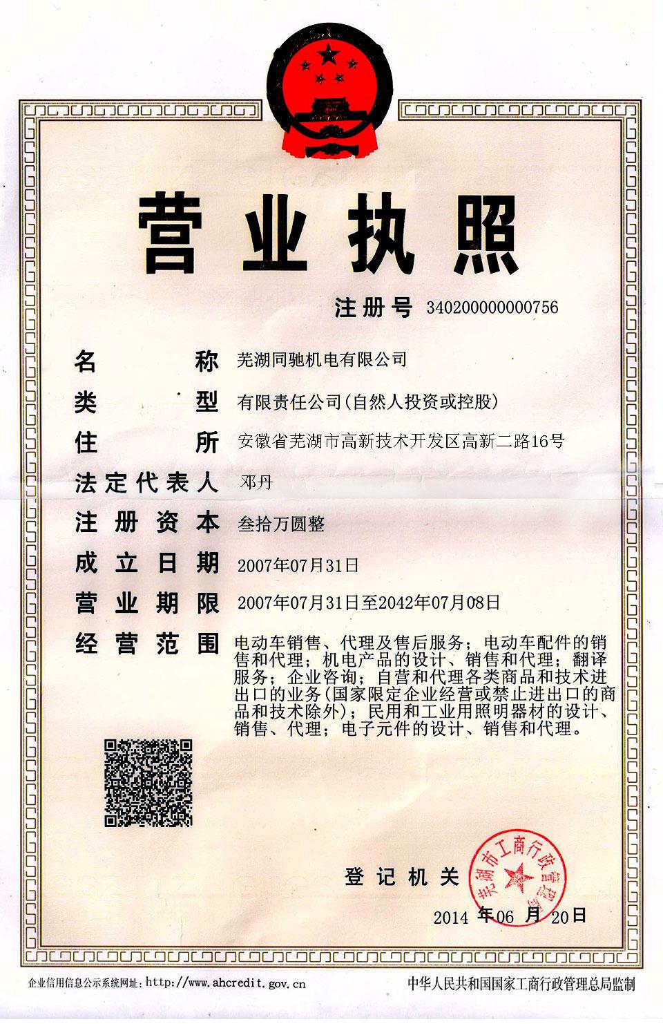 NOCO SHOP Business license