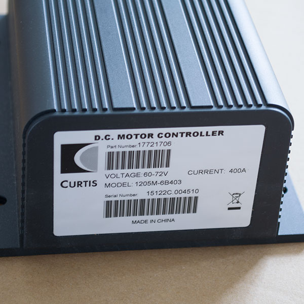 CURTIS DC Series Winding Motor Speed Controller, 60V / 72V - 400A, Model 1205M-6B403