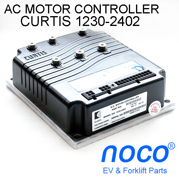 CURTIS AC Motor Controller Model 1230-2402, 24V / 200A, 1 hour rating for 80A