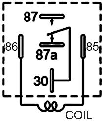 48V 10A Bosch Type Automotive DC Relay JD2912