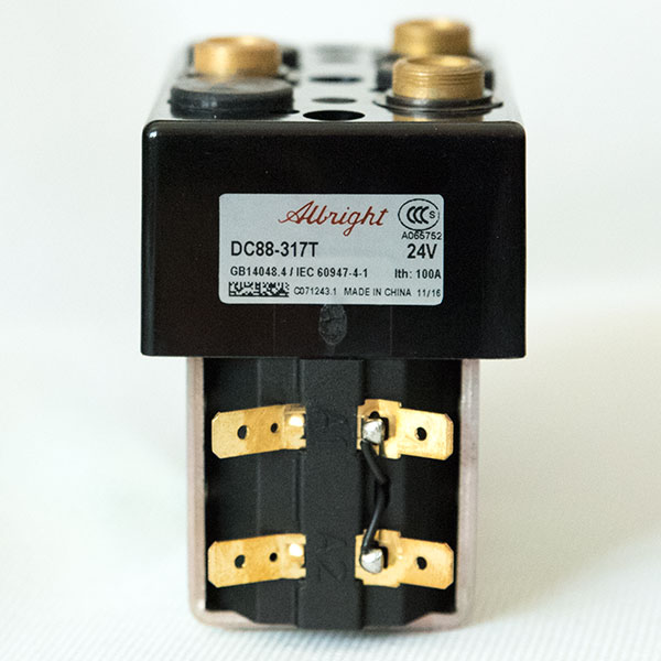 Albright DC Contactor / Solenoid DC88 and DC88B (Model with Magnetic Blowout), Monoblock Structure