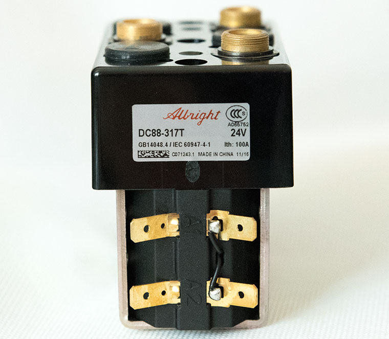 Albright DC Contactor / Solenoid DC88B-317T (Model with Magnetic Blowout), Monoblock Structure With Bracket