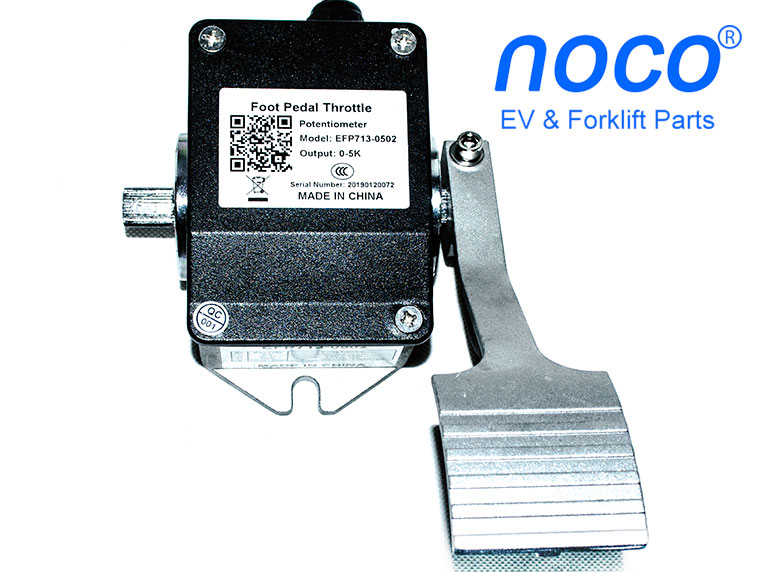 0-5K ohms potentiometer throttle, Model EFP713-0502, electric vehicle foot pedal EFP713-0502