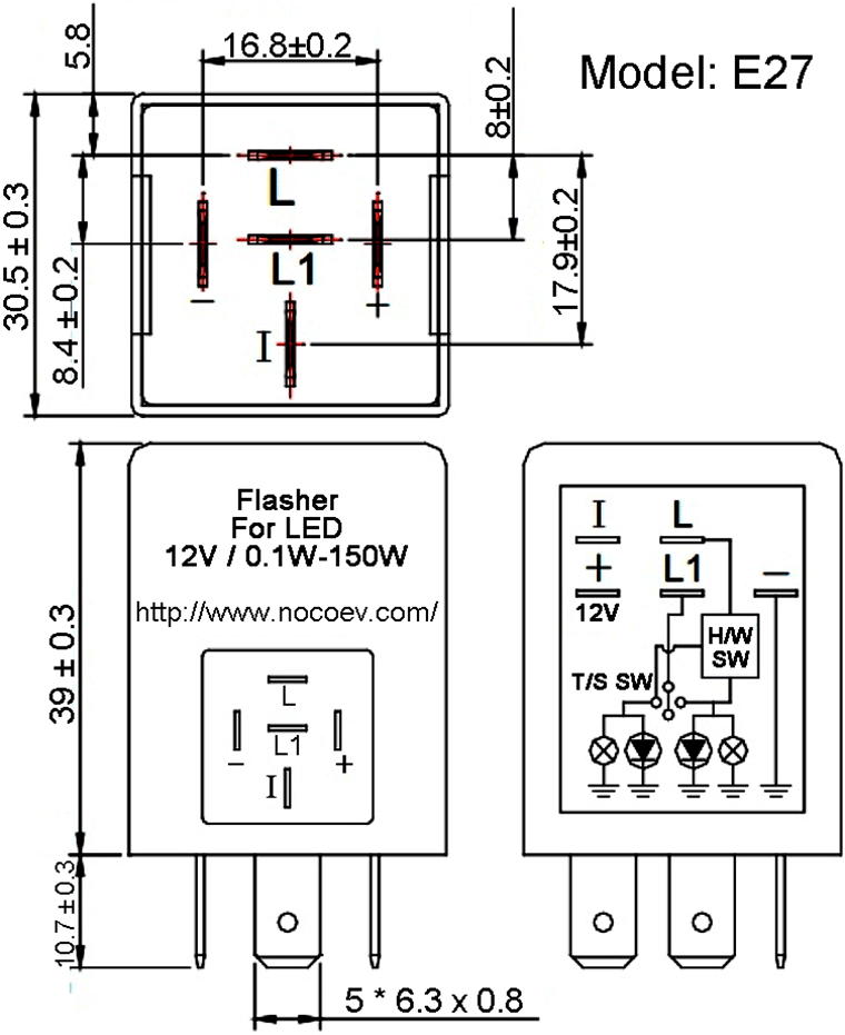 Diagram  3 Pin Wiring Diagram Turn Signal Flasher Full