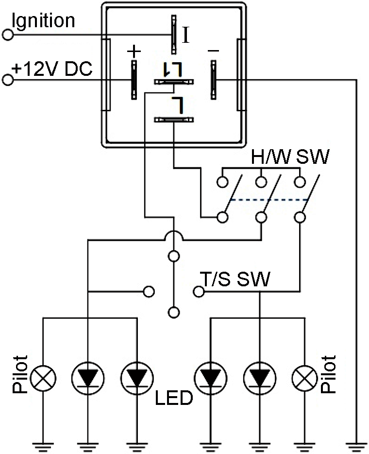ep27 12v automotive hazard warning \u0026 turn signal flasher Two Light Wiring Diagram