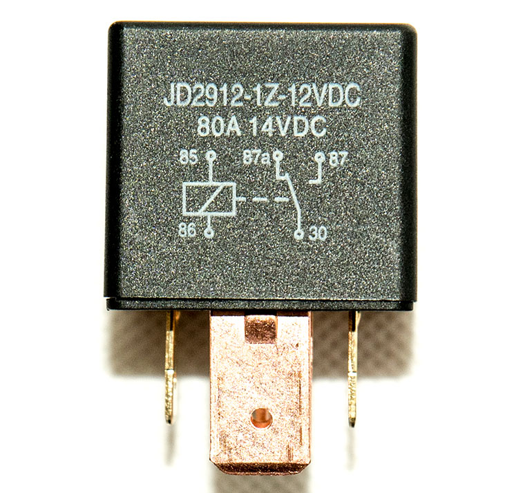 80A Bosch Type Automotive DC Relay, model JD2912, 5-Pin SPDT