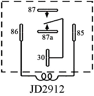 JD2912-S, Sealed Waterproof Bosch Type 5-Pin DC Relay on
