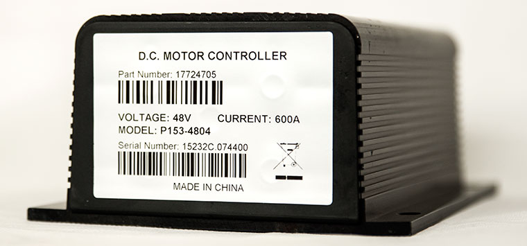 Programmable Series Motor Speed Controller (Replacement of CURTIS 1253-4804), PMC Model P153-4804, 48V - 600A, 0-5K or 0-5V Electric Throttle