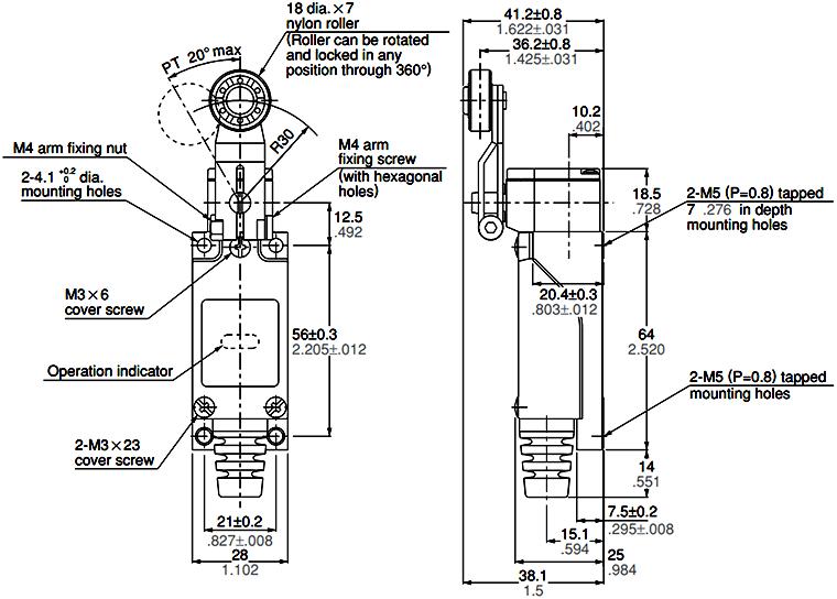 AZ8104 | PANASONIC Mini Limit Switch