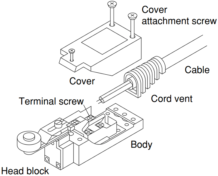 Panasonic Limit Switch With Roller Arm / Lever, Model AZ8104, 250V on forward reverse motor control diagram, limit switch circuit diagram, whitfield stoves diagram, limit switch parts, limit switch sensor, limit switch furnace diagram, limit switch control diagram, pellet stove parts diagram, limit switch motor diagram, limit switch schematic, dc motor control circuit diagram, limit switch valve,