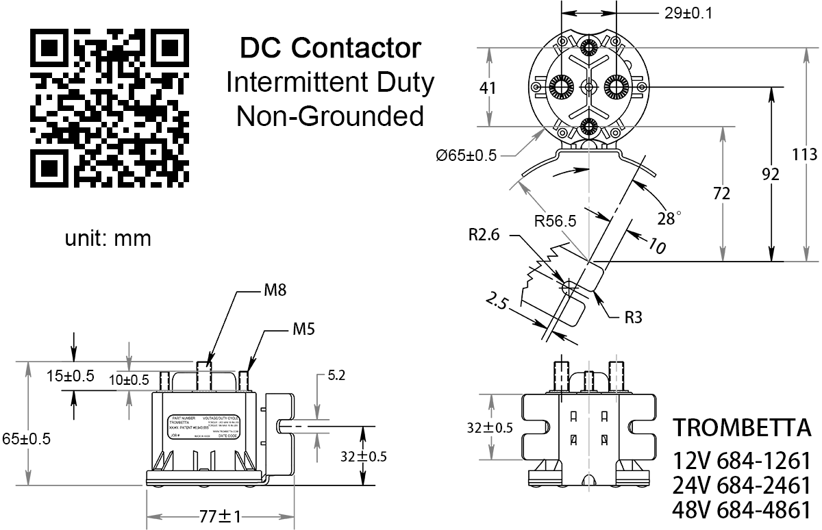[DIAGRAM_38IS]  TROMBETTA 684-1261-212 / 684-2461-212 Intermittent Duty DC Contactor | Trombetta Wiring Diagram |  | NOCO SHOP