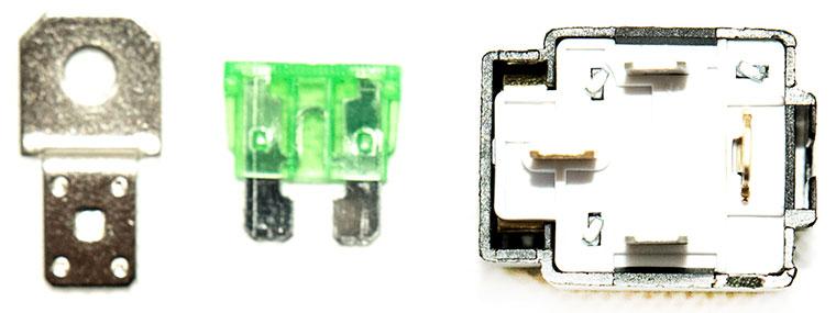 12V / 24V Automotive DC Relay with 30A fuse, model VFSA30, 4