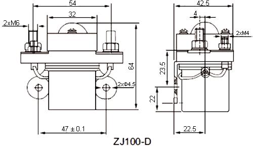 NOCO SHOP - 100A DC Contactor, Model: ZJ100D, 12V - 24V