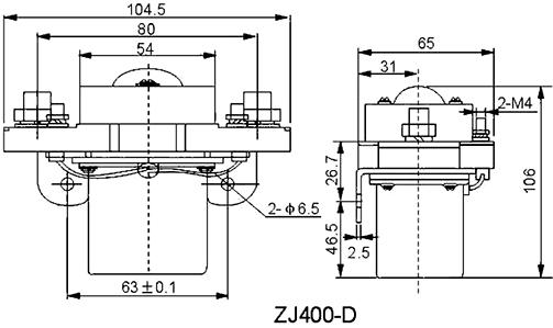 NOCO SHOP - 400A DC Contactor, Model: ZJ400D, 12V - 24V